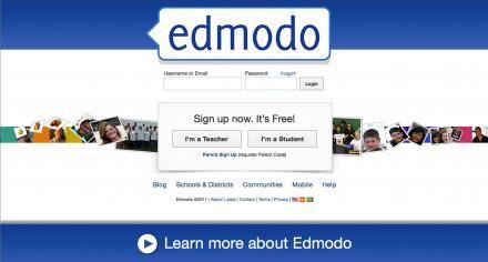 Edmodo is een online community, speciaal ontwikkeld voor gebruik in het onderwijs. Er komt dan ook geen reclame of andere onwenselijke communicatie voorbij en u werkt in een veilige omgeving. Je zou kunnen stellen dat het een kruising is tussen Facebook en de elektronische leeromgeving. Het enige grote verschil zit 'm in het feit dat Edmodo echt gericht is op besloten groepen. En die groepen maakt u als docent gemakkelijk zelf aan.