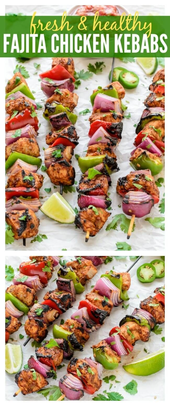 Easy Grilled Fajita Chicken Kebab Recipe                                                                                                                                                     More