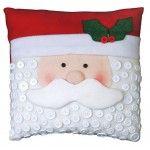Mary Maxim - Santa and Snowman Button Pillow Kit - Clearance