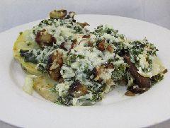 Een heerlijk voedselzandloper recept voor vegetarische lasagne van knolselderij met boerenkool