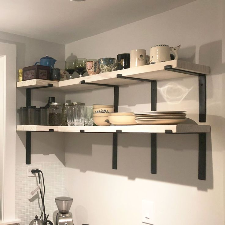 925 depth fixer upper farmhouse floating corner shelf