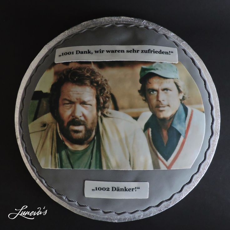 A Bud Spencer chocolate cake for a farewell at work.