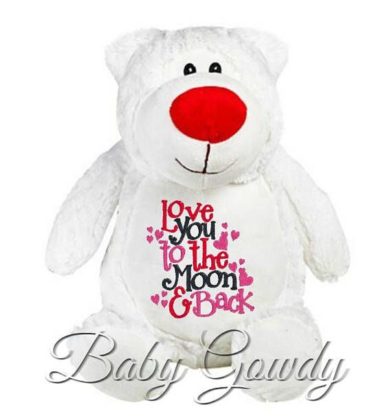 Personalized Teddy Bear Personalized Stuffed Animal Valentines Day Gift Valentines Teddy Bear Embroidered Teddy Bear New Baby Gift Ad Valentinesdaygift