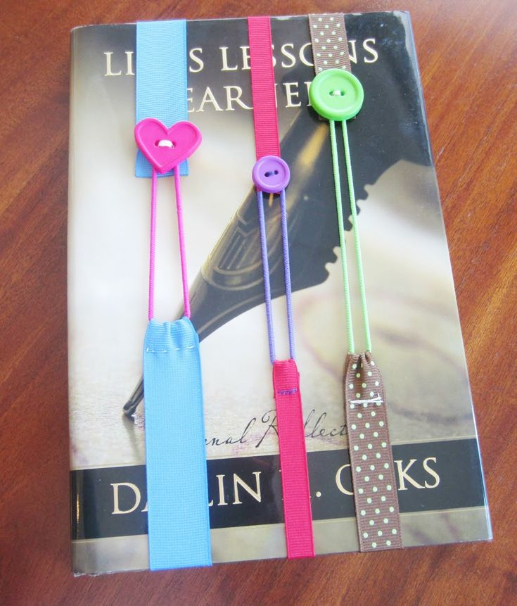 Button elastic bookmark tutorial by busy beehives kids for How to tie a ribbon on a bookmark