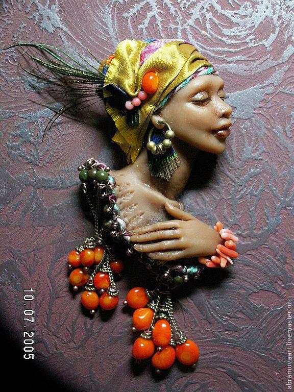 """Купить Брошь""""Африканская птичка""""серия """"Девушки бывают разные..."""" - ручная авторская работа, африканские мотивы"""