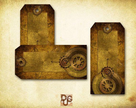 Hang Tags STEAMPUNK GOTHIC VICTORIAN design - Steampunk n 3