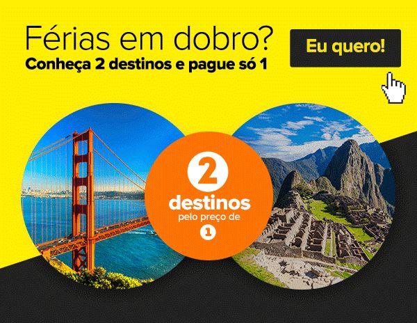 Férias em dobro? Conheça 2 destinos e pague só 1! :: Jacytan Melo Passagens