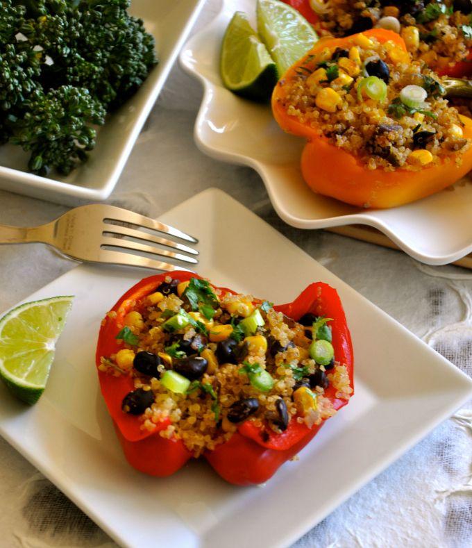 #Vegan Southwest Stuffed Bell Peppers. #GlutenFree # ...