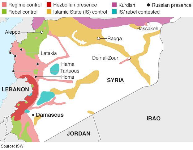 Syria crisis: Where key countries stand 10.27.15 - BBC