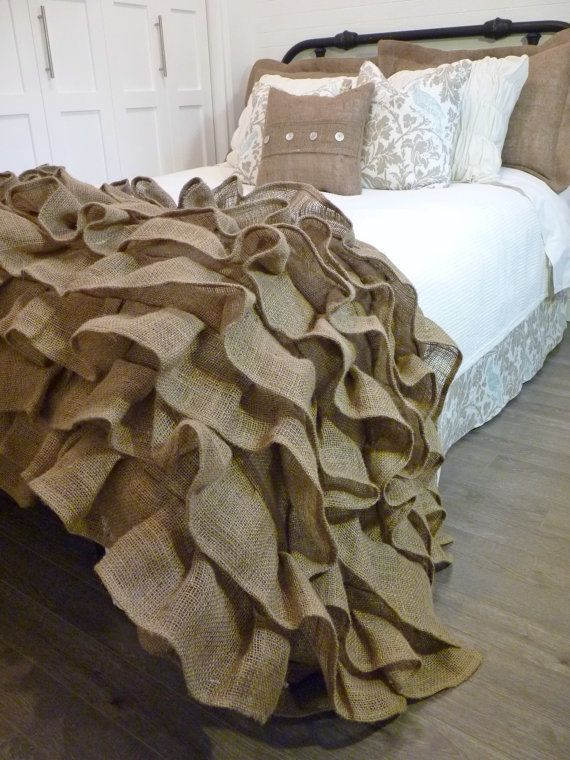 1000 Ideas About Burlap Bedding On Pinterest Burlap Bed