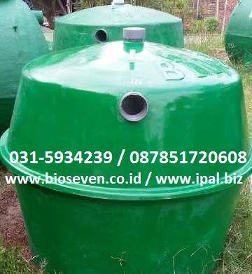 Bioseven Fiberglass jual septic tank biotech vertical harga satu jutaan saja . Bioseven juga memiliki tabung disinfectan yang berfungsi untuk mensterilkan limbah, hasil olahan hanya akan berbentuk cairan jernih, tidak berbau dan sudah memenuhi standart layak buang. Sehingga cairan tsb dapat langsung dialirkan ke saluran air. Hub. Dian 087851720608