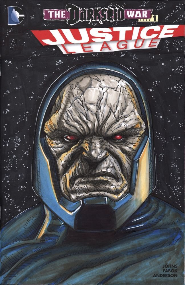 Darkseid Justice League 41 Blank Sketch Cover Original Art | eBay