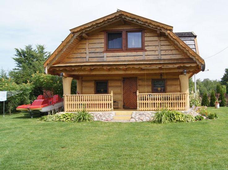 Domy i domki na Mazurach - Dom z bala nad jeziorem Dejguny