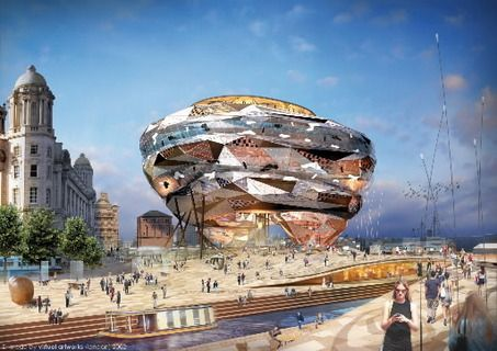 """Will Alsop's """"Cloud"""" for the Toronto Waterfront"""