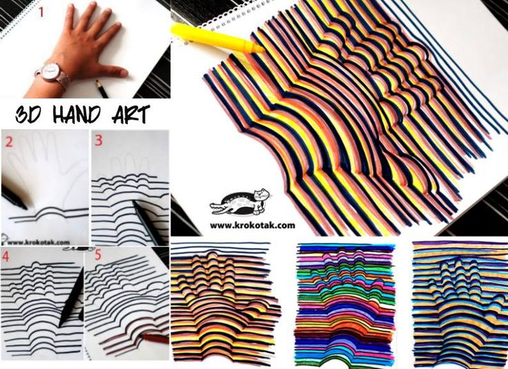 17 Best Ideas About 3d Hand Art On Pinterest