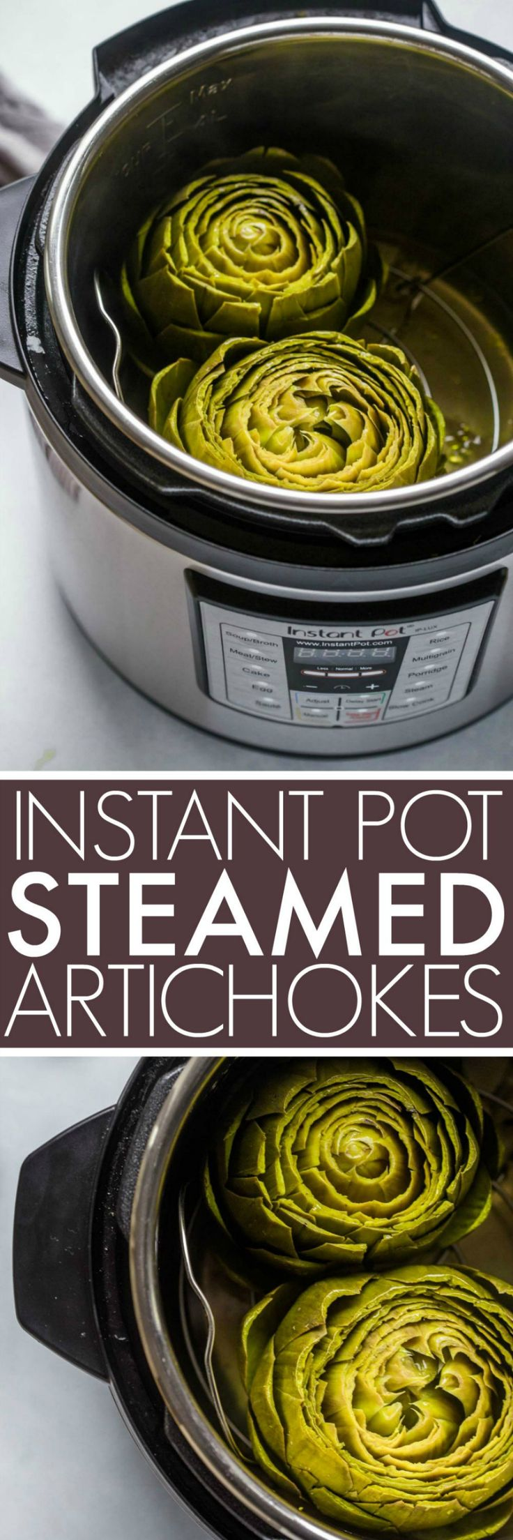 Instant Pot Steamed Artichokes are quick and easy to make with the help of your …