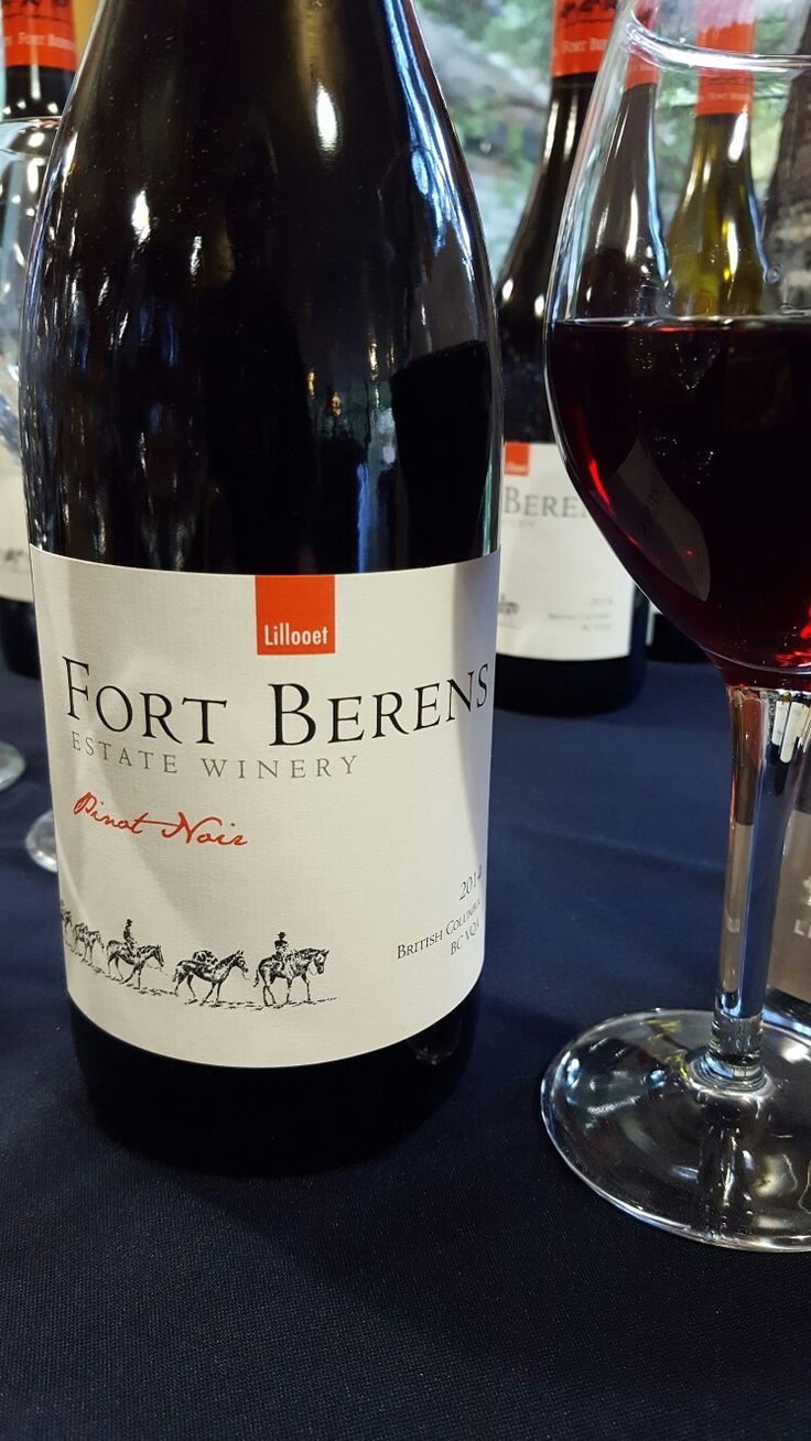 Fort Berens Pinot Noir served at the Hell's Gate 45th anniversary party.