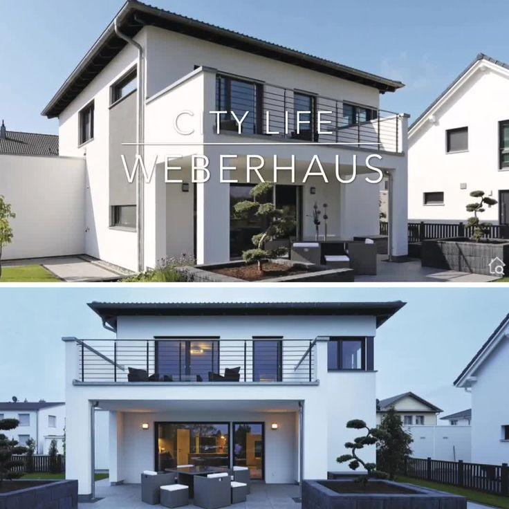 Modernes Haus Design mit Walmdach, Carport & Balkon bauen