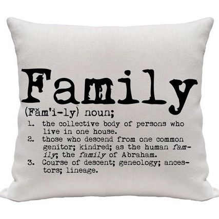 "Funda cojín ""Family"""