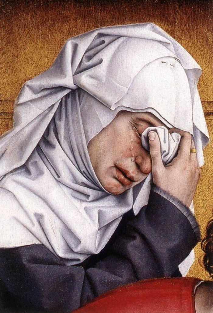 Rogier van der Weyden, Detail from Descent from the Cross, 1435