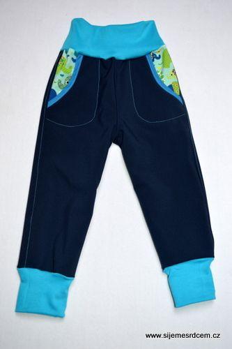 Softshellové kalhoty tmavě modré