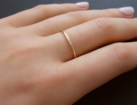 Thin Gold Filled Ring Skinny Gold Ring Minimal by annikabella