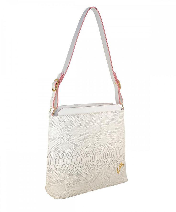 Λευκή τσάντα ώμου Veta