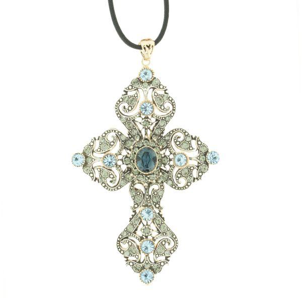 FAITH Statement Kreuz Silberkette 270,- Euro  #princesslioness #silberschmuck #silberkette #statementkette #kreuzanhänger #extravagant #swarovskisteine #wow #megakette