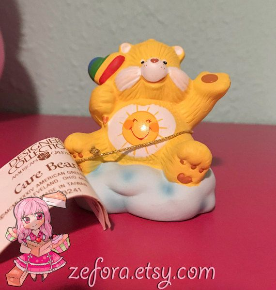Funshine Sunshine Vintage Care Bears Ceramic Collectible by zefora