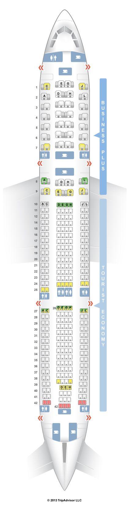 SeatGuru Seat Map Iberia Airbus A330-300 (333) - SeatGuru