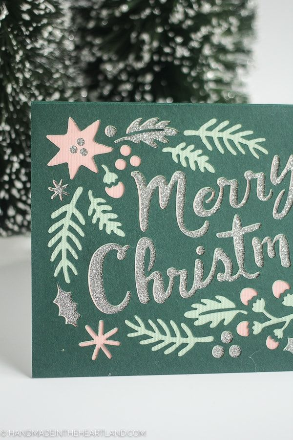 4 Layer Paper Cricut Christmas Card (With images