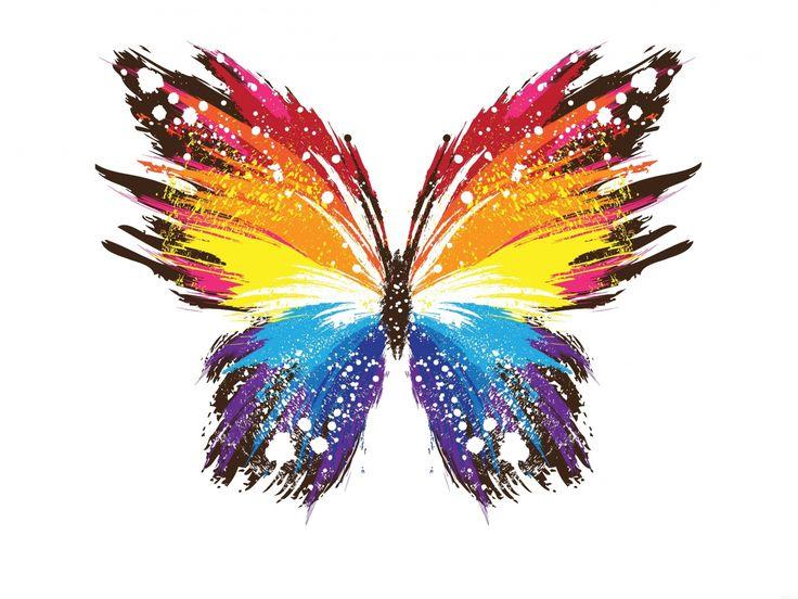 抽象的なイメージ, 蝶の壁紙, パターンベクトル, カラフルな背景