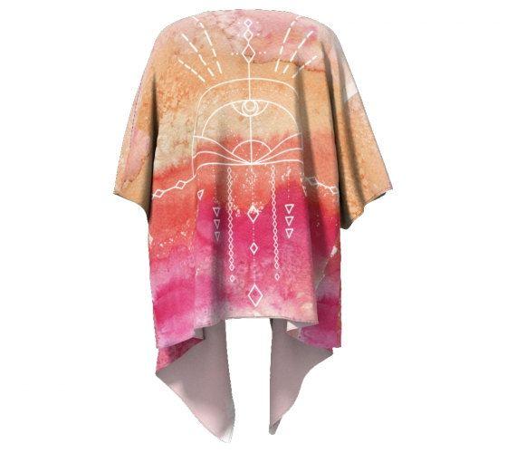 Mod Geometry Kimono  Modern Wearable Art  Ombre by Exaltation