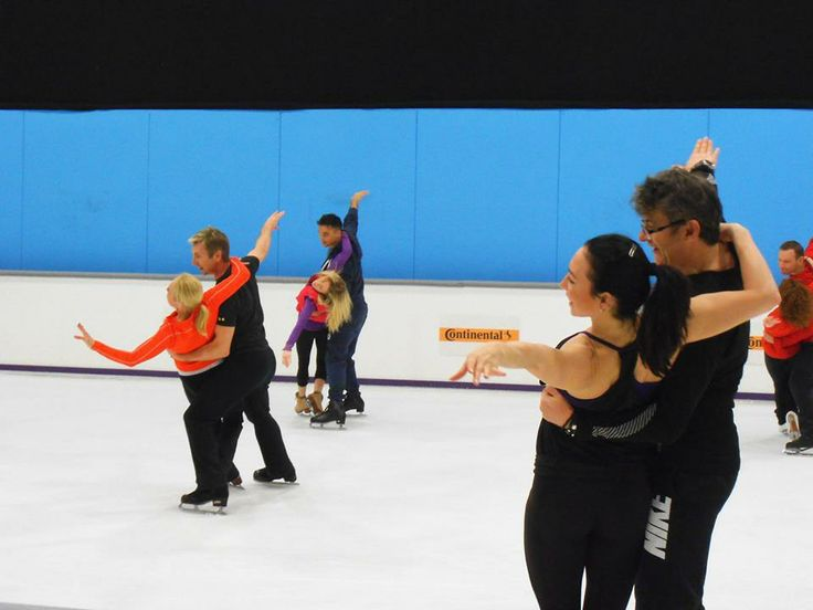 Things are starting to look great at Dancing on Ice Tour rehearsals