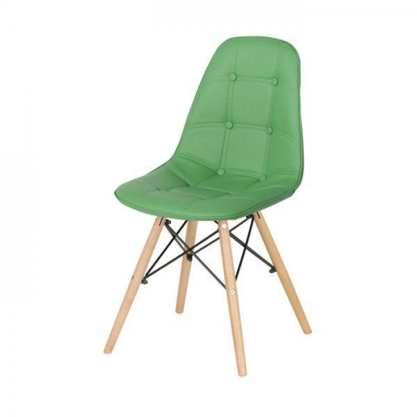 Зелен трапезен стол Scandi / #обзавеждане #мебели #furnituredesign #scandi