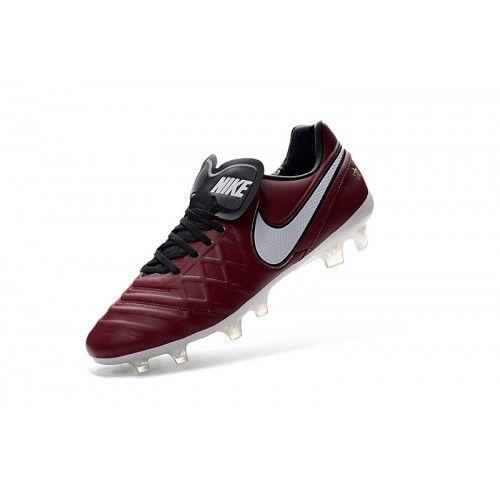 Nike Tiempo - Best Nike Tiempo Legend VI FG Dark Red White Football Boots