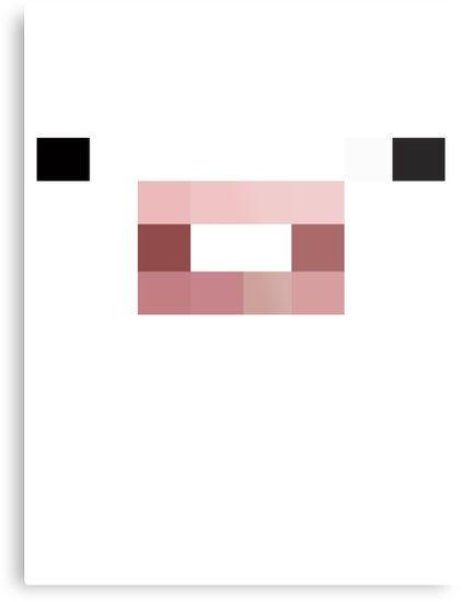 Minecraft pig face