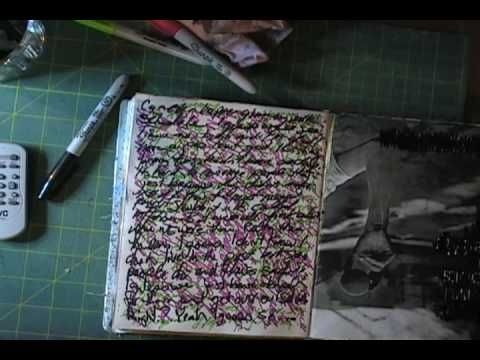 sharpie ghosting technique, video tutorial by AJ Squidoo #journaling #art #crafts