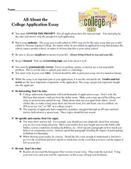 examples of good college application essays
