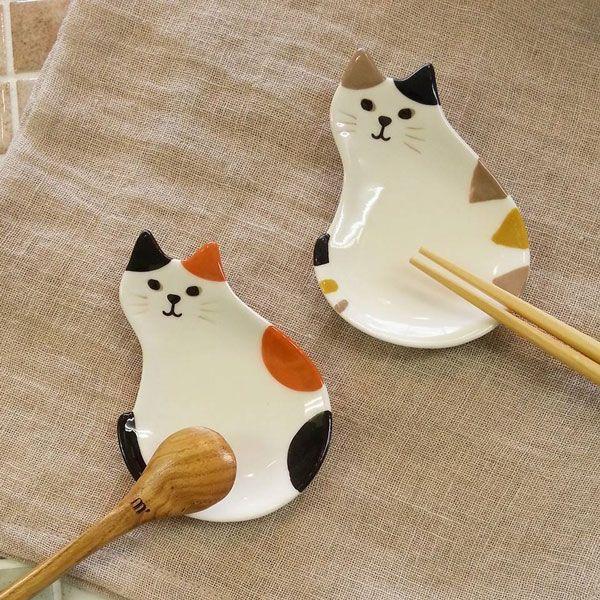 【デコレ/DECOLE】HappyCatday豆皿箸置き小皿