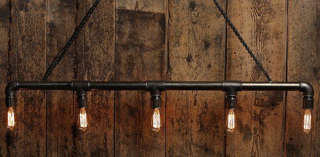 Deckenlampen - Steampunk Lampe - Vintage Design Deckenlampe aus S - ein Designerstück von Schallmoversum bei DaWanda
