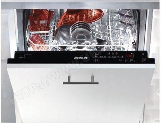 Lave vaisselle tout integrable 60 cm BRANDT VH13TFJ