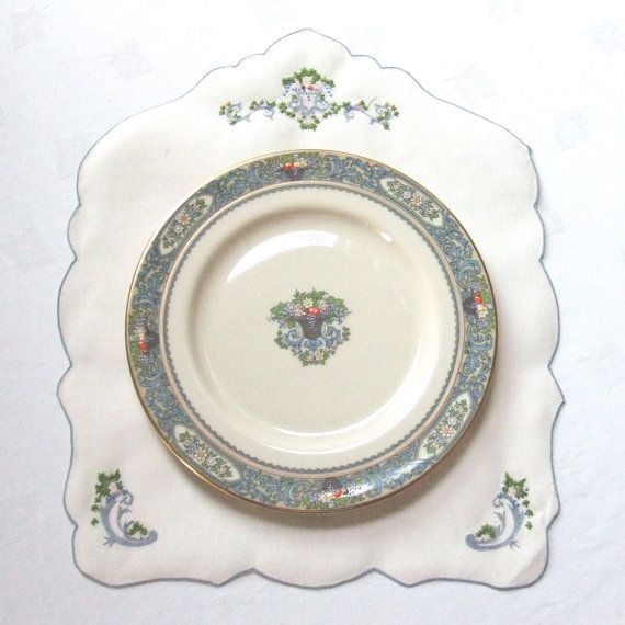 Popular China Patterns Part - 27: Shape Is Pentagon And The Embroidery Matches The Pattern On The China.  Autumn By Lenox Is One Of Their Most Popular ...