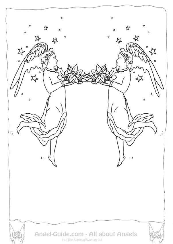 55 best ♥ Angel Drawings to Color images on Pinterest