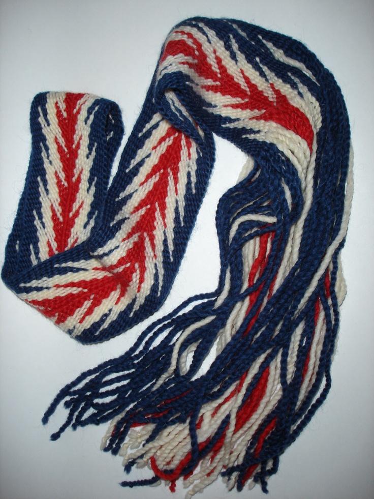 finger woven sash