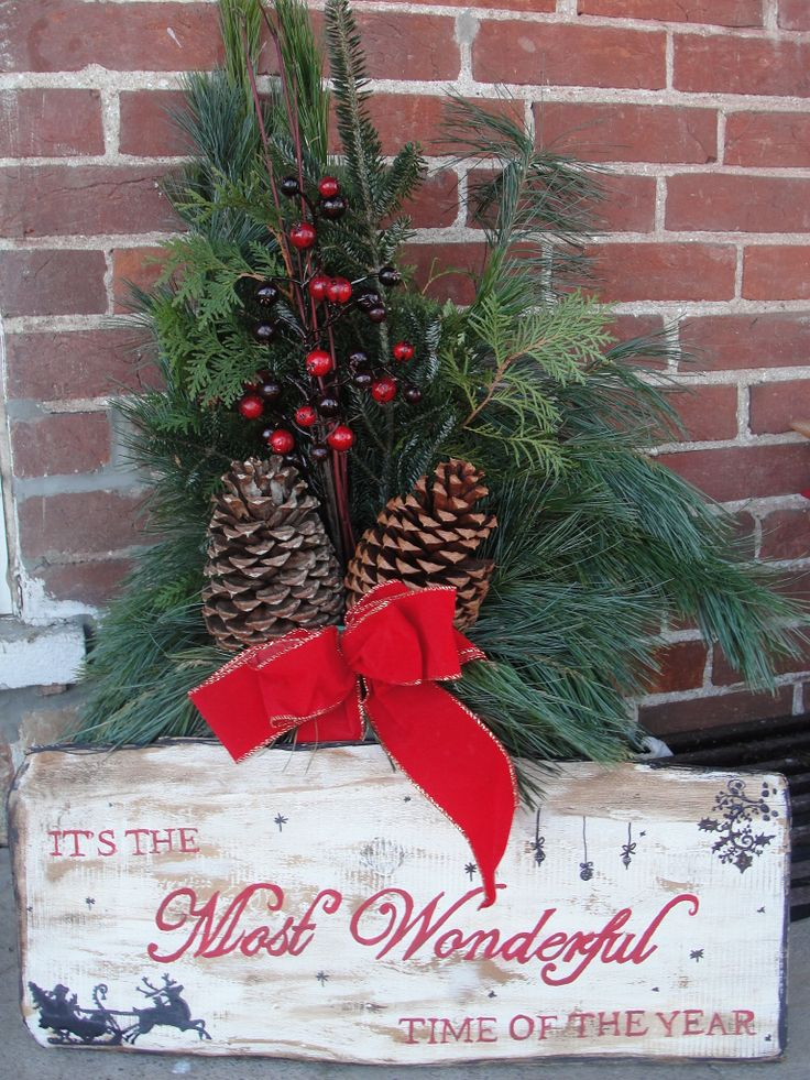Diy rustic outdoor sign christmas pinterest