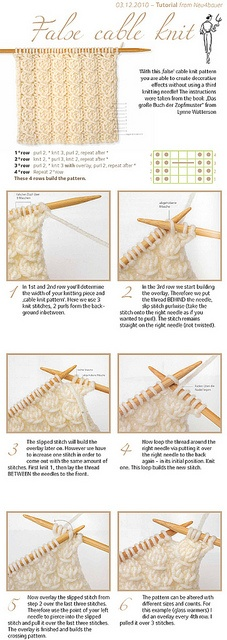 "How to knit ""cables"" without twisting"