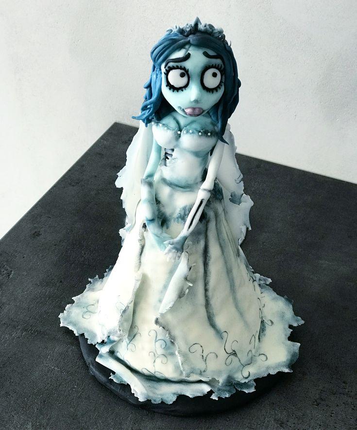 corpse bridge fondant figure cake topper
