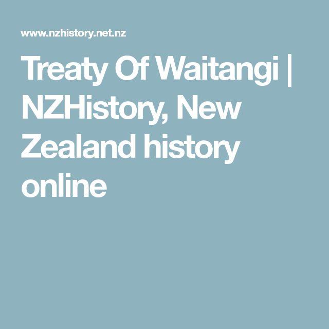 Treaty Of Waitangi | NZHistory, New Zealand history online