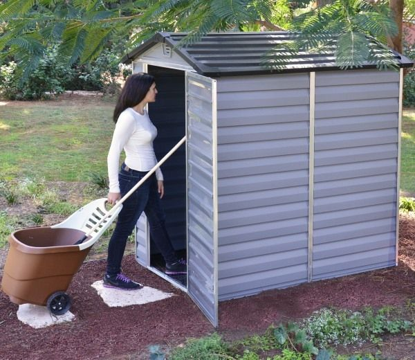 palram skylight anthracite polycarbonate shed 4x6 - Garden Sheds 3ft Wide